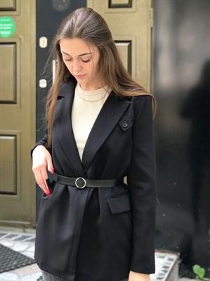 Пиджак удлиненный с ремнём (016) - фото 27632