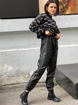 Штаны кожаные женские (Y0201-B) - фото 28430