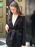 Пиджак удлиненный с ремнём (016)