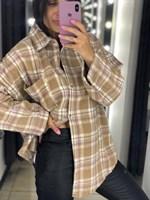 Рубашка тёплая в клетку (616-RY)