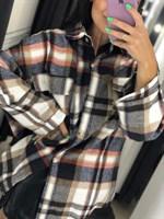 Рубашка теплая в клетку (045140)