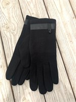 Перчатки черные тканевые (009-d)