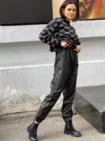 Штаны кожаные женские (Y0201-B)