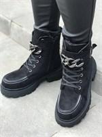 Ботинки зимние замша (9855A-1)