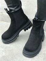 Ботинки зимние замша (A803-39)