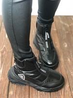 Кроссовки зима черные (F50-1)