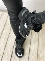 Кроссовки зима черные (HR8807-1)