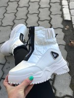 Кроссовки зима белые (F50-2)